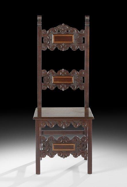 Fourteen Spanish-Style Mahogany Dining Chairs - 2