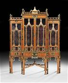Edwardian Chinoiserie-Decorated Breakfront
