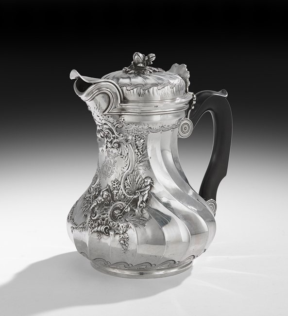 Fine Early Louis XV Silver Cafetiere Marabout