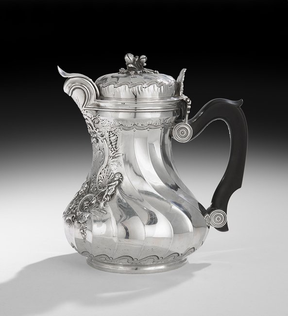 Fine Early Louis XV Silver Cafetiere Marabout - 5