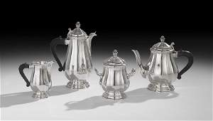 FourPiece Christofle 950 Silver Tea Service