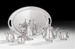 American SixPiece Silver Coffee and Tea Set