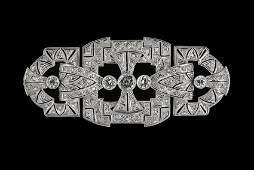 Beautiful Platinum and Diamond Brooch