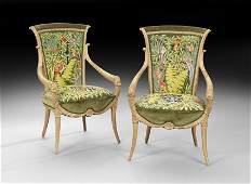 Pair of Art Nouveau Armchairs