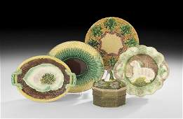 FivePiece Collection of Majolica