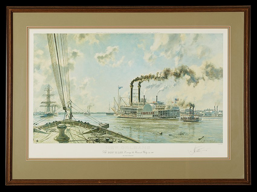 Two Views of New Orleans by John Stobart