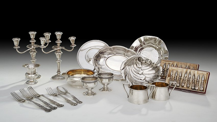 19 Pcs. Sterling Silver and Other Small Tableware