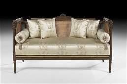 Louis XVI-Style Fruitwood Settee