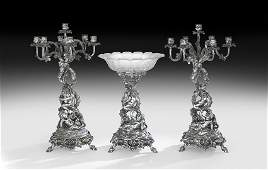 Christofle 3Piece Silverplate Table Garniture
