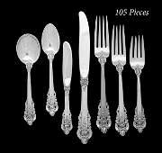 "105 Pcs.of ""Grande Baroque"" Silver Flatware"