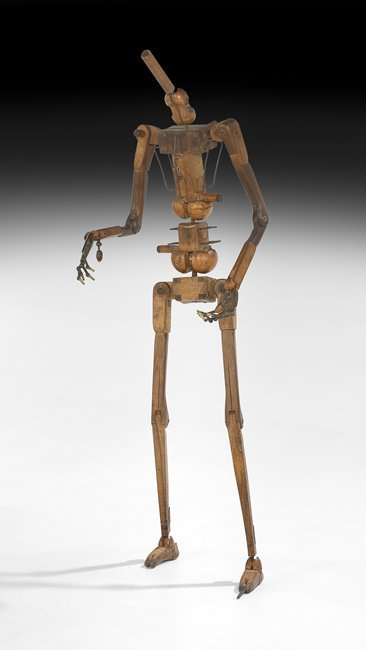 Rare Wood and Metal Life-Size Mannequin Skeleton