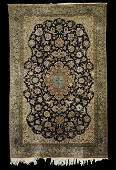 SemiAntique Kashan Silk Carpet