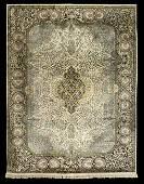 SemiAntique Kashan Kashmir Silk Carpet