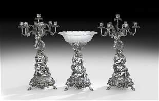 Christofle Three-Piece Table Garniture