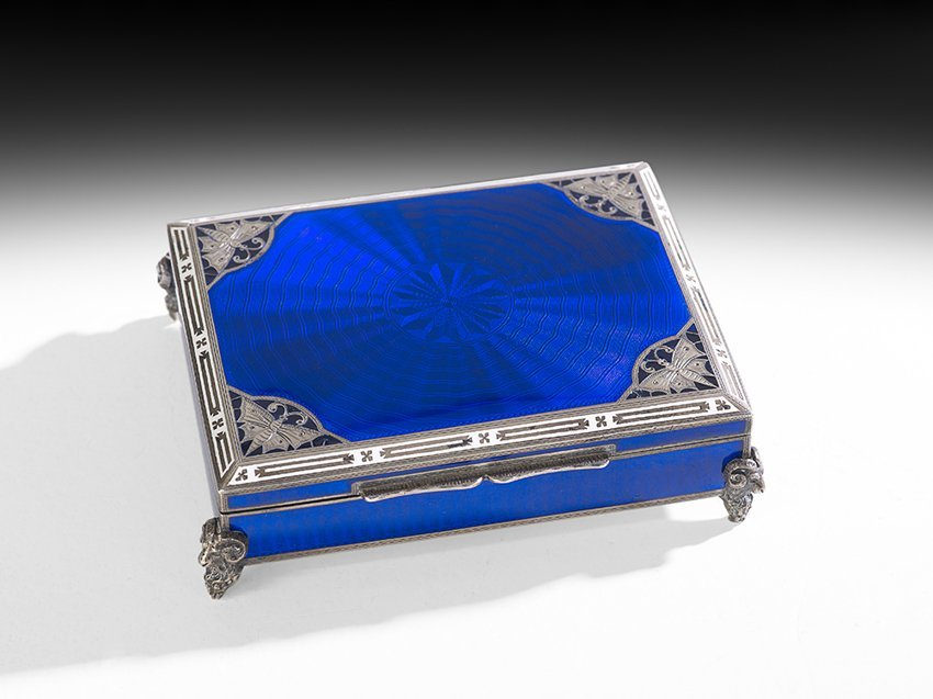 Austrian Silver and Enamel Table Box
