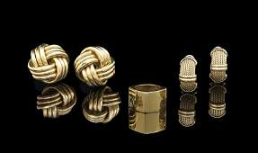 18 Kt Yellow Gold Jewelry Group