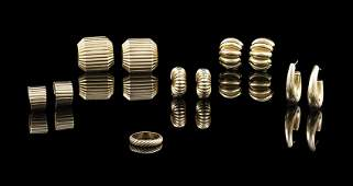 14 Kt Yellow Gold Jewelry Group
