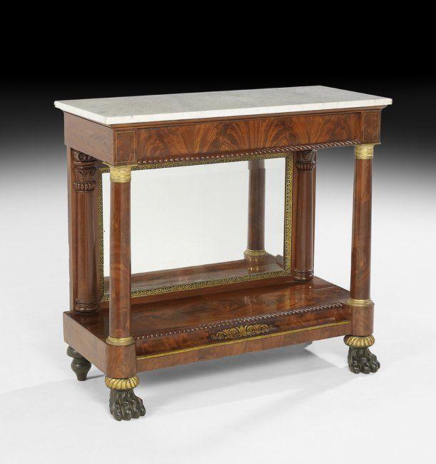 American Classical Mahogany Pier Table