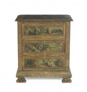 Italian Baroque-style Polychrome Commode