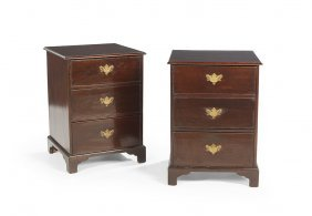 Pair Of George Iii Mahogany Chests