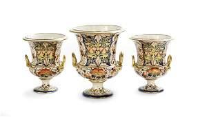 Three-Piece Derby Porcelain Garniture Set