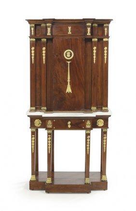 Empire Mahogany Breakfront Cabinet
