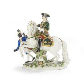 Meissen Polychrome Figure Of Czarina Elizabeth