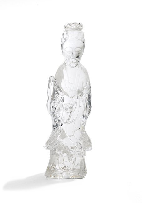 Chinese Rock Crystal Figure of Guanyin