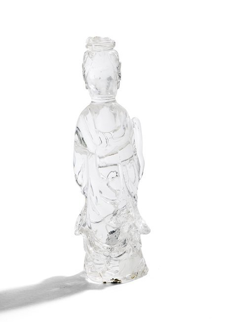 Chinese Rock Crystal Figure of Guanyin - 2