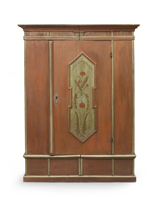 Continental Provincial Polychrome Armoire