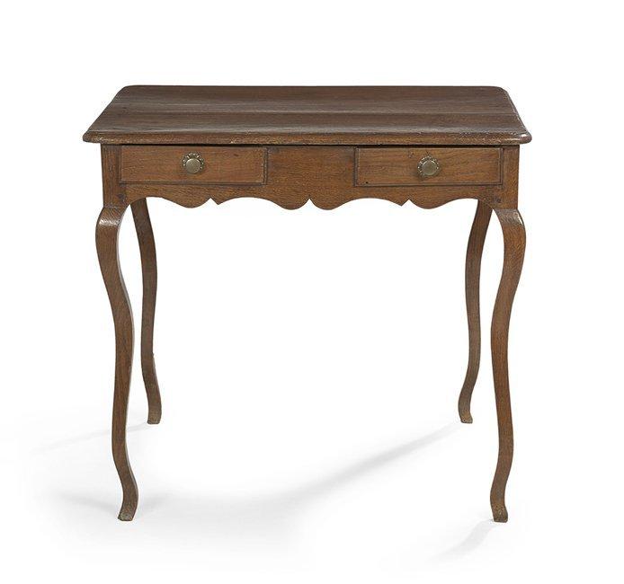 Provincial Louis XV Oak Writing Table