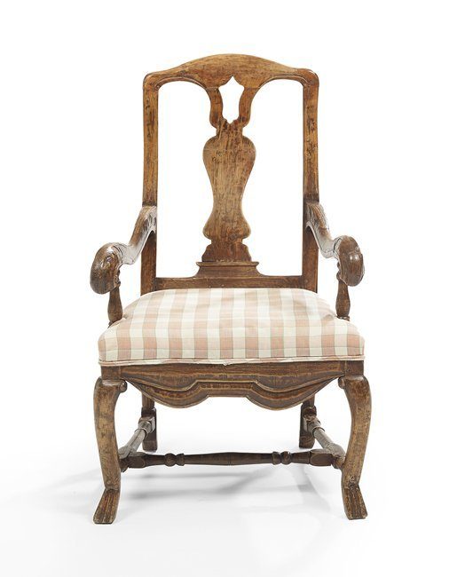 Provincial Louis XV-Style Fruitwood Fauteuil
