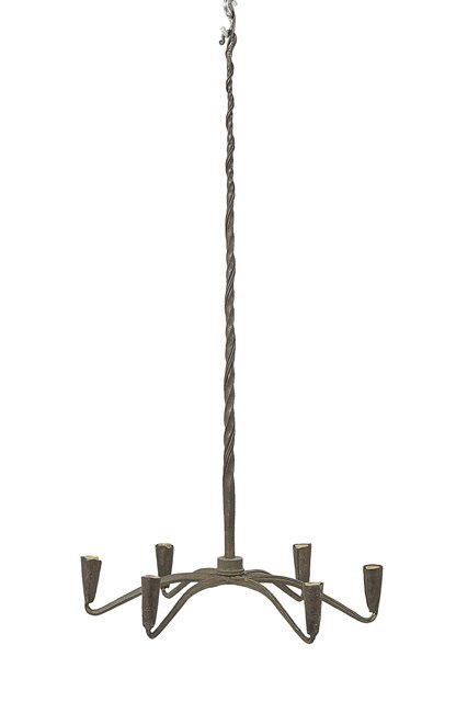 18th Century-Style Wrought Metal Chandelier