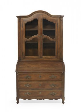 French Provincial-Style Fruitwood Secretary