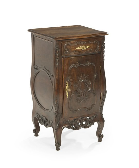 Provincial Louis XV-Style Walnut Nightstand