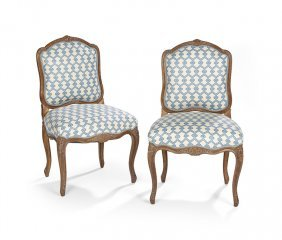 Pair of Provincial Louis XV-Style Sidechairs