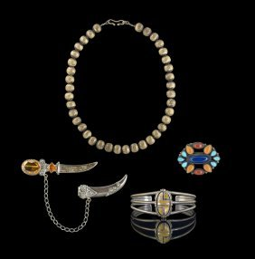 Four Pieces of Assorted Ethnic Jewelry
