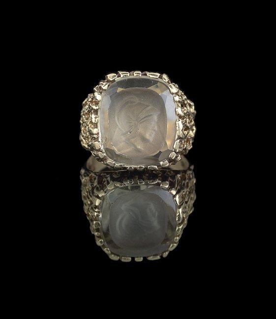 Gentleman's 14 Kt. Gold and Smoky Quartz Ring