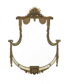 Hollywood Regency-Style Gilded Mirror