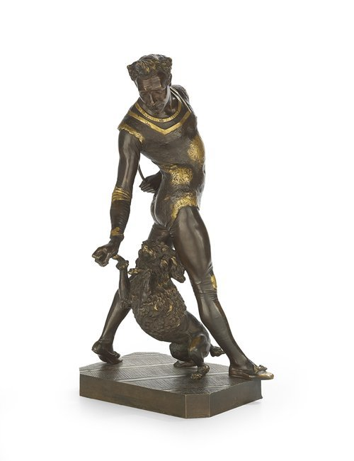 "French Bronze Sculpture of ""Levantate"""