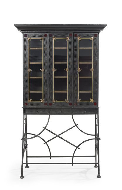 French Steel & Wrought-Iron Conservatory Cabinet
