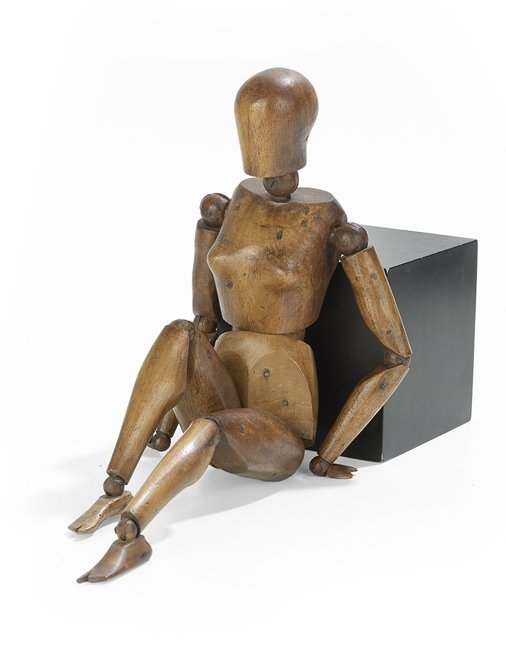 Continental Carved Walnut Artist's Lay Figure
