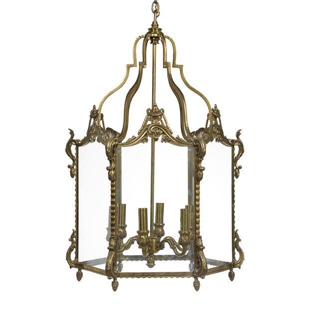 French Bronze Lantern in the Baroque Taste