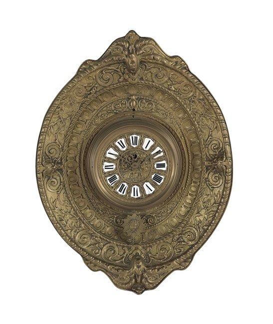 Continental Pressed Brass Wall Clock