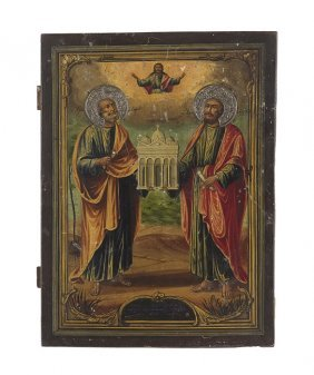 Russian Icon of  Saints Peter and Paul