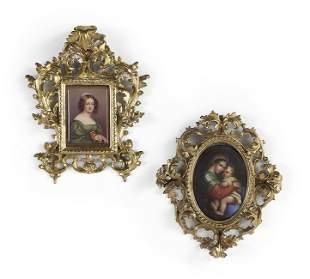 Two Handsome KPM-Style Porcelain Plaques