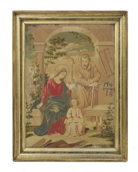 German Needlepoint of the Holy Family