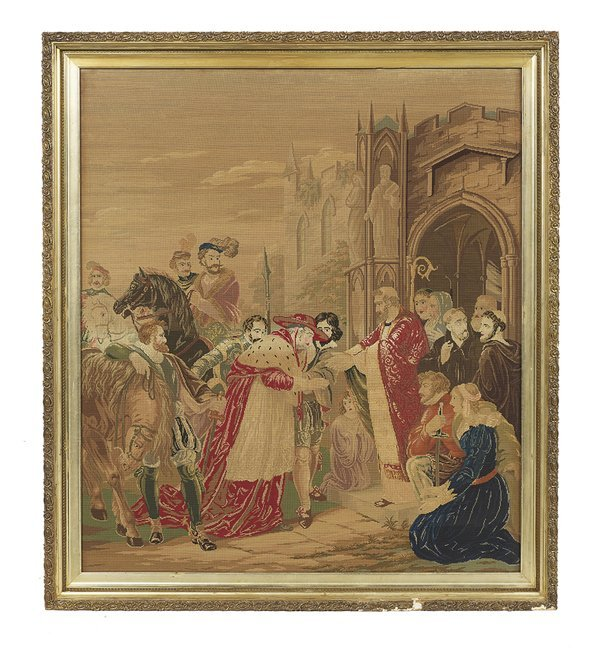 """Continental Needlepoint of """"Pilgrimage End"""""""