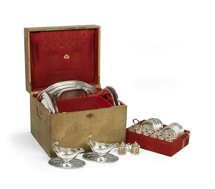 Extensive Cased French .950 Silver Dinner Service