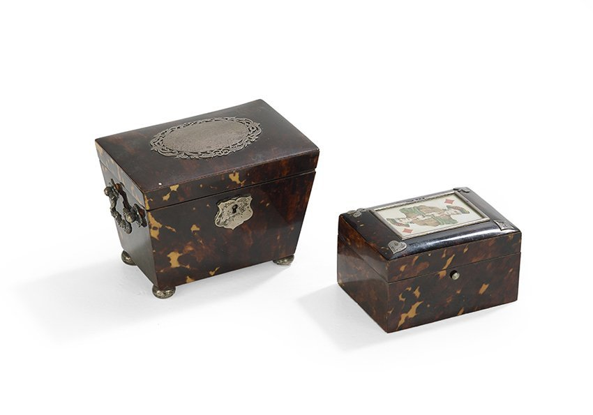 Two Victorian Silver-Mounted Tortoiseshell Boxes